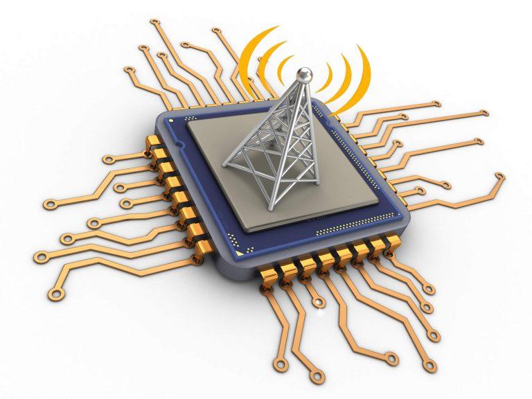 3D representation of a microchip